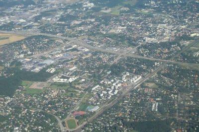 Ilmakuva Tapulikaupungista